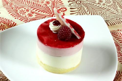 duo raspberry white chocolate mousse